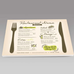 PROMO SET DE TABLE MENU groupe PERFECMTIX PHOTOFFSET